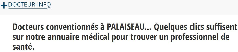 Les coordonnées actualisées des médecins généralistes à Palaiseau sont à retrouver sur docteur-info.fr